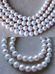 2 Pearls 8mm to 9mm Natural Creamy Satin 2639 - PremiumBead