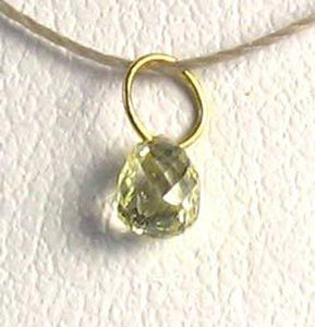 0.29cts Natural Canary Diamond 18K Gold 4x2.5mm Pendant 8798Q - PremiumBead