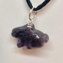 Load image into Gallery viewer, Hop! Amethyst Bunny Rabbit Solid Sterling Silver Pendant 509255AMS - PremiumBead