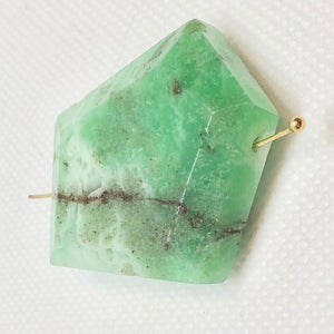 110cts Faceted Chrysoprase Nugget Bead Immense 10134E - PremiumBead