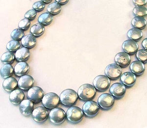 9 Shimmer Silvery Platinum FW Coin Pearls 9447 - PremiumBead Primary Image 1