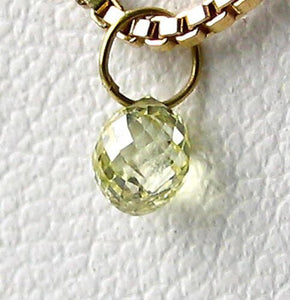 0.35cts Natural Canary Diamond 18K Gold Pendant 8798Dd - PremiumBead Alternate Image 2