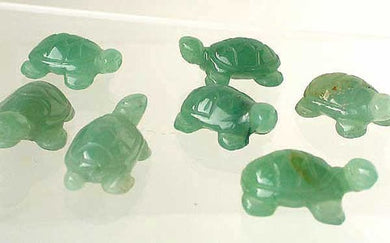 Charming 2 Carved Aventurine Turtle Beads | 20x12x8.5mm | Green - PremiumBead Primary Image 1