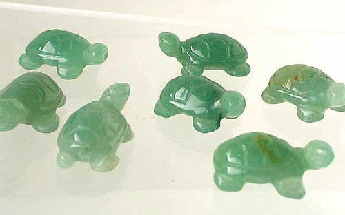 Charming 2 Carved Aventurine Turtle Beads | 20x12x8.5mm | Green - PremiumBead