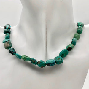 "160cts 16"" Natural USA Turquoise Pebble Beads Strand 106696H - PremiumBead Alternate Image 3"