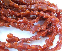 Load image into Gallery viewer, Prosperity Hand Carved Red Aventurine Frog Beads | 22x16x9mm | Red - PremiumBead
