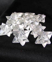 Load image into Gallery viewer, O Kabbalah 2 Carved Quartz Merkabah Star Beads 9288QZ | 25x15x15mm | Clear - PremiumBead