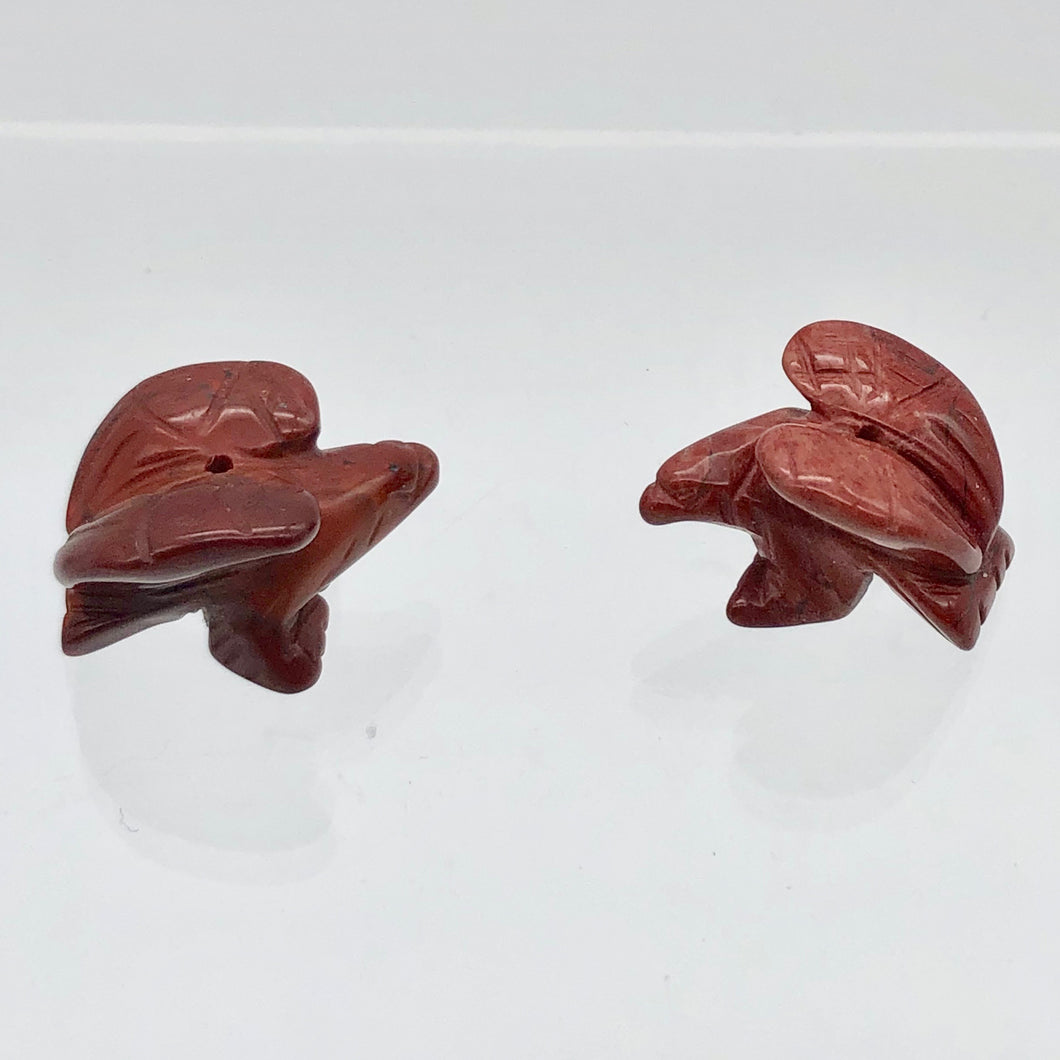 2-soaring-carved-brecciated-jasper-eagle-beads-21x16x14mm-red-14213