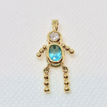 Load image into Gallery viewer, march-crystal-kid-boy-22k-vermeil-pendant-9926cb-11562