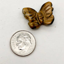 Load image into Gallery viewer, Fluttering Deep Tigereye Butterfly Figurine/Worry Stone | 21x18x7mm | Bronze - PremiumBead