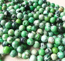 "Load image into Gallery viewer, Mojito 10-11mm American Green Turquoise Round Bead 8"" Strand 007416HS - PremiumBead"