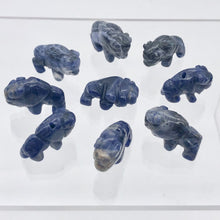 Load image into Gallery viewer, Abundance 2 Sodalite Hand Carved Bison / Buffalo Beads | 21x14x7.5mm | Blue - PremiumBead