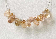 Load image into Gallery viewer, Natural Champagne Zircon Faceted Briolette Bead 6939 - PremiumBead Alternate Image 2