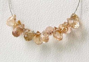Natural Champagne Zircon Faceted Briolette Bead 6939 - PremiumBead Alternate Image 2