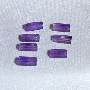 7 AAA Gorgeous Natural 13x4mm Amethyst Rectangular Tube Beads 002887 - PremiumBead