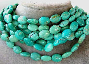 Natural Blue-Green 16x12mm Skipping Stone Bead - PremiumBead Primary Image 1