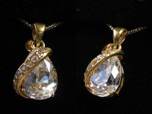 Load image into Gallery viewer, Shimmer Cubic Zircon & 22K Vermeil Pendant 10534 - PremiumBead