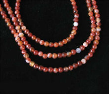 Load image into Gallery viewer, Fiery! Carnelian Agate 4mm Round Beads Strand 110490 - PremiumBead