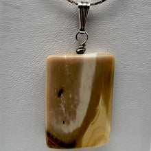 Load image into Gallery viewer, Creamy yellow beige Mookaite & Silver Pendant! | 35x25x5mm |
