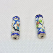 Load image into Gallery viewer, 2 Cloisonne 19mm Tube Beads - Enameled Swan 10712 - PremiumBead Alternate Image 2