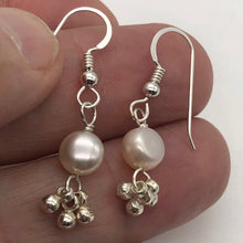 Load image into Gallery viewer, Gorgeous Natural Fresh Water Pearl Solid Sterling Silver Earrings | 1 1/4 inch | - PremiumBead