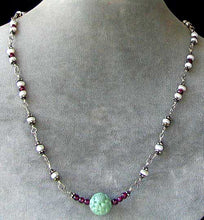 Load image into Gallery viewer, Designer Original Ruby Jade Pearl Sterling Silver 20 inch Necklace - PremiumBead