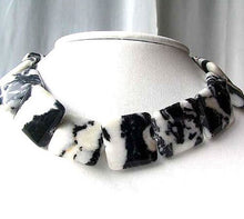 Load image into Gallery viewer, 1 Bead of Black & White Zebra Agate Pendant Beads 008615 - PremiumBead