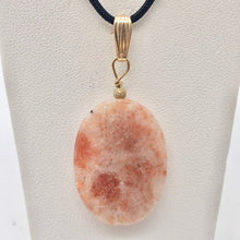 Load image into Gallery viewer, 14Kgf Sunstone 30x22mm Pendant 506515 - PremiumBead Primary Image 1