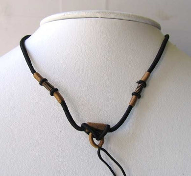 Black Wrapped Silk Cording 16-26 inch Necklace 10528B - PremiumBead Primary Image 1