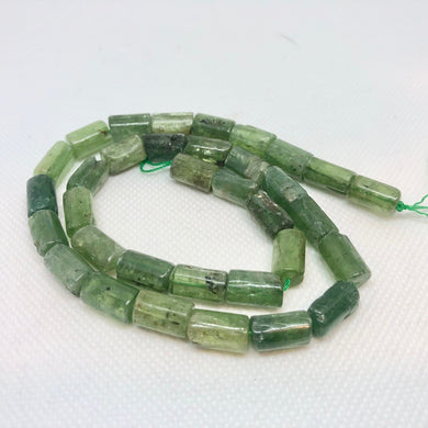 Sizzling Green Kyanite 11.5mm Tube Bead 16