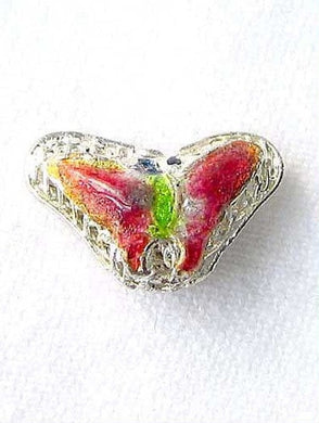 Lime & Cherry Cloisonne 16x10mm Butterfly Pendant Beads 8635B - PremiumBead