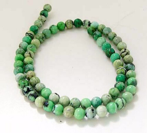 Mojito Minty Green Turquoise 5.5mm Round Bead Strand 107415 - PremiumBead Primary Image 1