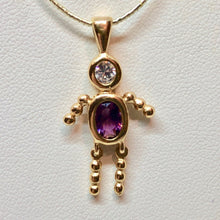 Load image into Gallery viewer, February! Crystal Kid Boy 22K Vermeil Pendant 9926Bb - PremiumBead