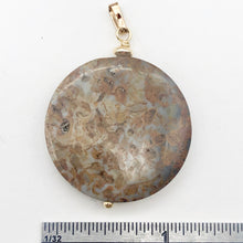 "Load image into Gallery viewer, AutumnLeaves Druzy Ocean Jasper 14K Gold Filled Pendant | 30mm | 1 3/4"" Long 