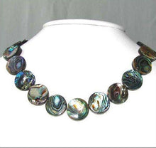 Load image into Gallery viewer, Natural Abalone Coin Shaped 18x4mm Bead Strand 104589 - PremiumBead