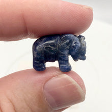 Load image into Gallery viewer, Wild 2 Hand Carved Sodalite Elephant Beads | 22.5x21x10mm | Blue white - PremiumBead