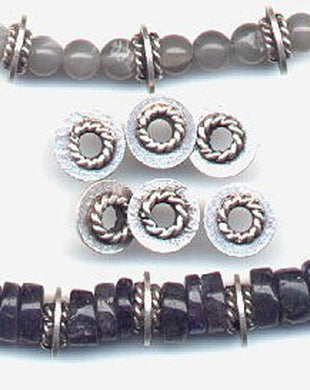 4 Fabulous 3.6G Solid Sterling Silver Braid-Ring Spacer Beads 3858 - PremiumBead
