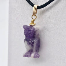 Load image into Gallery viewer, Amethyst Owl Pendant Necklace | Semi Precious Stone Jewelry | 14k Pendant - PremiumBead