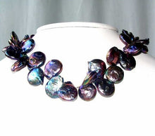 Load image into Gallery viewer, Glam 20-15mm Rainbow Peacock Freshwater Baroque Coin Pearl Strand 108503A - PremiumBead