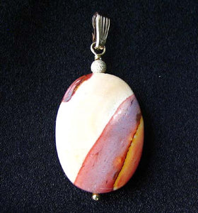 Sherbet Mookaite 30x20mm Oval 14k Gold Filled Pendant, 2 inches 506765A - PremiumBead