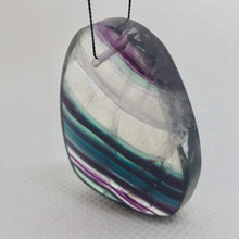 Load image into Gallery viewer, Fluorite Freeform Pendant Bead Clear/Purple/Teal 5432O - PremiumBead