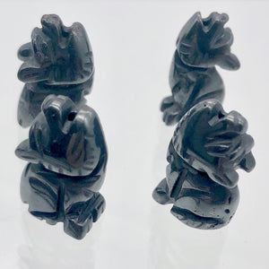 howling-new-moon-2-carved-hematite-wolf-coyote-beads-21x11x8mm-silver-black-15969