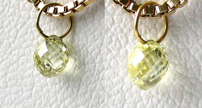 0.35cts Natural Canary Diamond 18K Gold Pendant 8798Dd - PremiumBead Primary Image 1