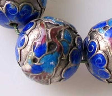 Load image into Gallery viewer, Crane Bird 1 Silver Cloisonne 16mm Round Bead 10591 - PremiumBead