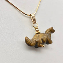 Load image into Gallery viewer, Tigereye Diplodocus Dinosaur with 14K Gold Filled Pendant 509259TEG - PremiumBead