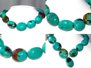 735cts Natural USA Turquoise Oval 16 Bead Strand 108476 - PremiumBead Alternate Image 4