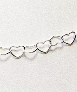 Solid Sterling Silver 5mm Heart Chain 12 inches (3.79G) 9197 - PremiumBead