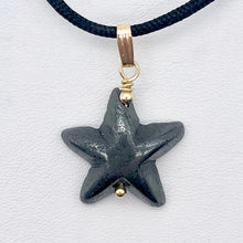 Load image into Gallery viewer, Hematite Starfish Pendant Necklace | Semi Precious Stone | 14k gf Pendant - PremiumBead Alternate Image 6