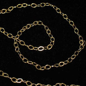 Shimmer 14K Gold Filled Open Link Chain 6 inches | 10x1.5mm | 22 links | - PremiumBead