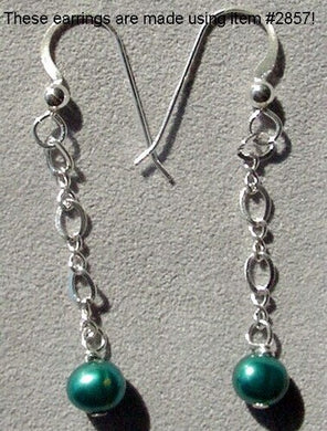 Sterling Silver Perfect Green Freshwater Pearls Dangle Earrings 300004 - PremiumBead